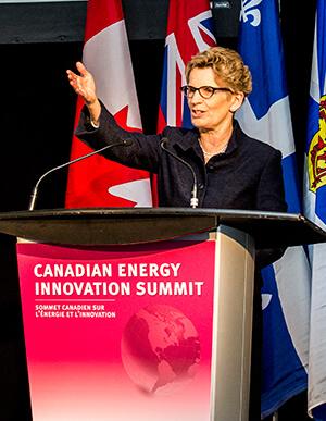 Ontario Premier Kathleen Wynne at Canadian Energy Innovation Summit at MaRS