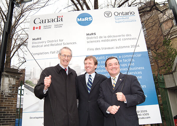 Dr. John Evans, Allan Rock, the Honourable Jim Flaherty