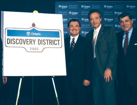 Jim Flaherty at MaRS 2002