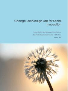 SiG Change Lab/Design Lab for Social Innovation Report