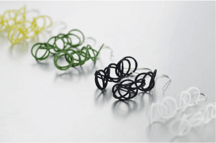 Hot Pop Factory's 3-D printed earrings made from nylon