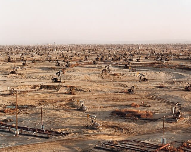 Burtynsky Oil Fields Oil Fields 2 2003 by Edward