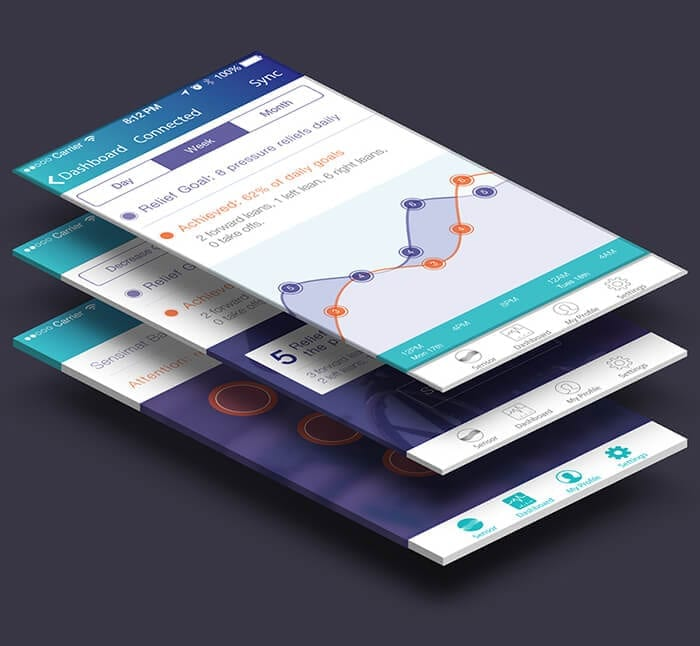 Sensimat smartphone app