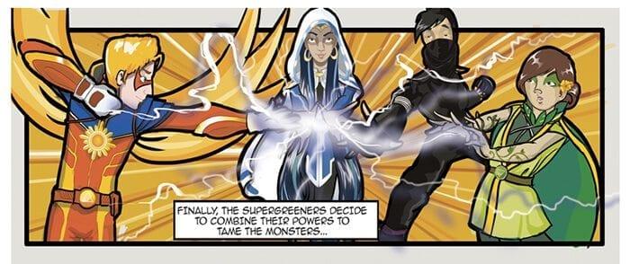 Supergreeners comic book