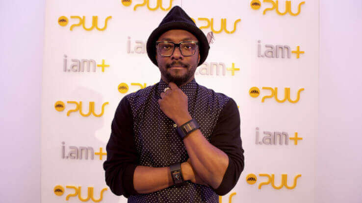Musician and entrepreneur Will.i.am wearing the Puls device