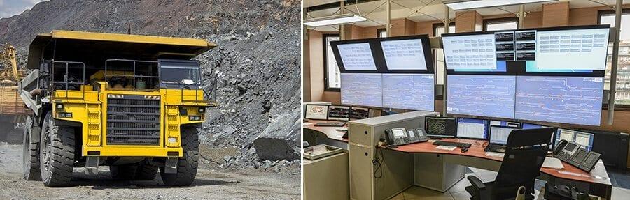 mining truck control room