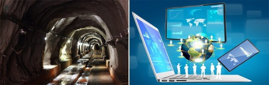 mining tunnel world laptop