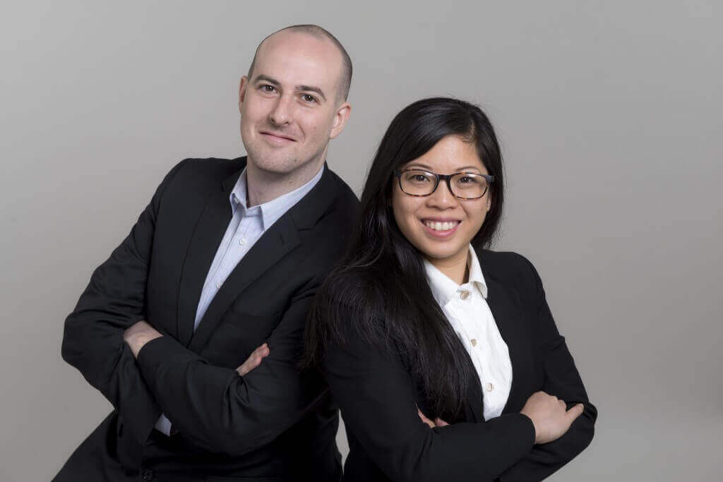 Evan Moses and Jessica Ching, co-founders of Eve Medical