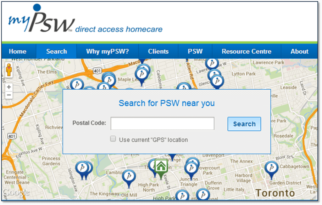 myPSW Home Page Image