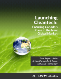 The Action Canada Fellows, in consultation with energy leaders, produced a report that presented three recommendations to improve adoption of Canadian cleantech technologies domestically.