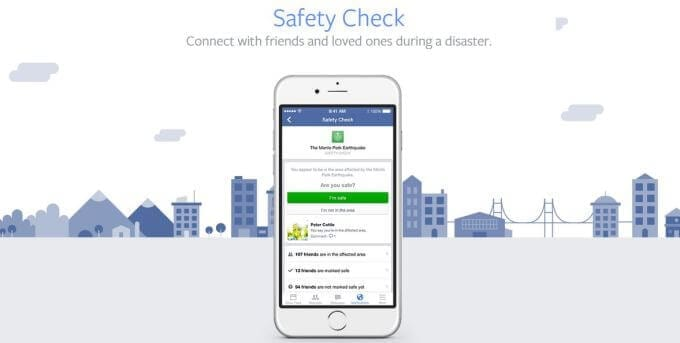 Facebook's safety check