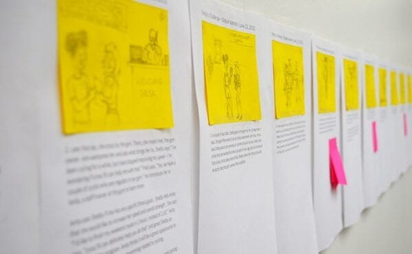 Snapshot of storyboarding the Doppel Move user journey