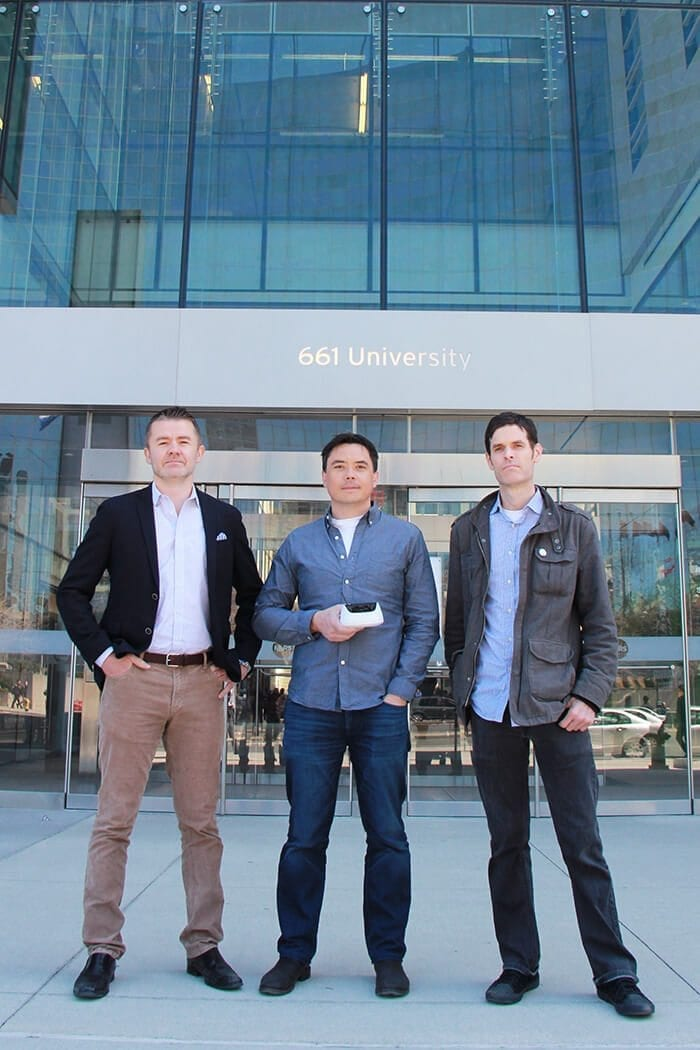 Jason Gamblen, James Wu and Matt MacGillivray, co-founders, InnerSpace