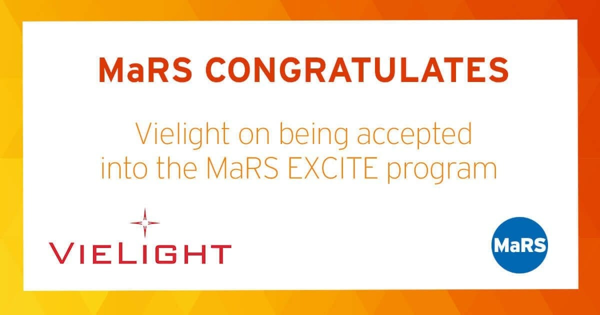 MaRS congratulates Vielight on being accepted into the MaRS EXCITE program