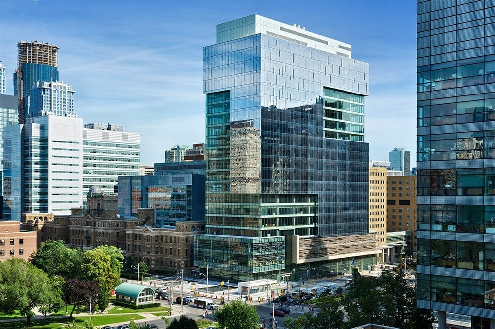 "The MaRS Phase 2 tower at College Street and University Avenue in Toronto. MaRS plays a critical role in the dynamic hub that is Toronto's Discovery District, ""which exemplifies the new model for urban multi-sector innovation,"" write Meric Gertler and Ilse Treurnicht."
