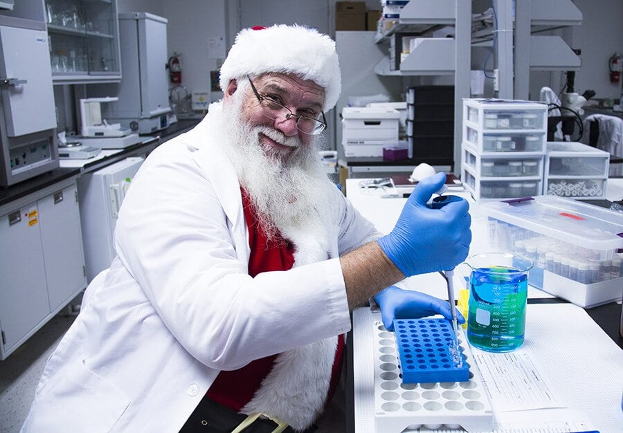Santa is a scientist. And he's going carbon neutral this year