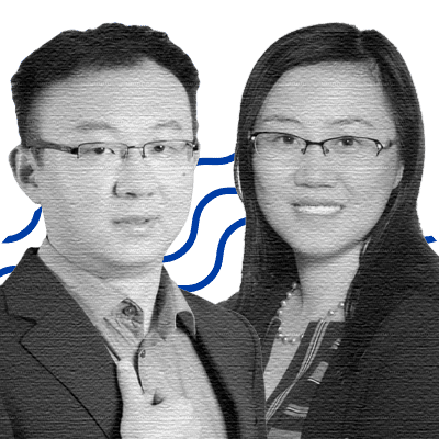Yang Shao, CEO of Geneseeq China; Xue Wu, CEO of Geneseeq Canada