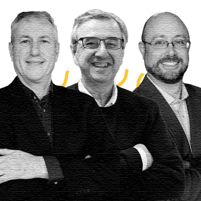 George DeMarchi, Managing Director and Co-Founder; Trevor Cook, Co-Founder & Director; Robert Hyde, CEO