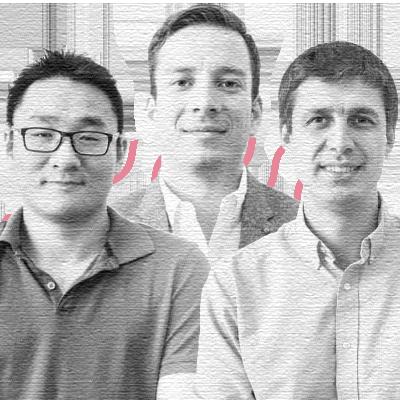 Ildar Shar, CEO; Vitaly Pecherskiy, COO; Yang Han, CTO